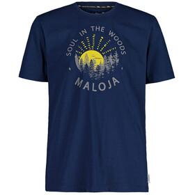 Maloja HeckenkirscheM. T-shirt Herrer, blå